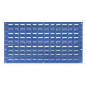 Louvered Wall Panel, Blue, 18x19 - Pkg Qty 4