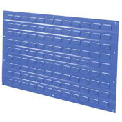 Louvered Wall Panel, 36x19, Blue - Pkg Qty 4