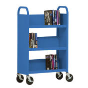 SANDUSKY 3-Shelf Single Sided Mobile Utility Truck 27x13, Blue