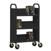 SANDUSKY 3-Shelf Single Sided Mobile Utility Truck 27x13, Black