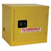 "Slim Flammable Cabinet BJ6, Self Close Single Door, 6 Gallon, 23""W x 18""D x 22""H"
