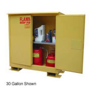 Weatherproof Flammable Safety Cabinet with Roof, 45 Gallon Self Close Doors
