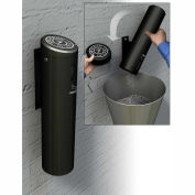 Commercial Zone Smokers Outpost Wall Mounted Ashtray Locking, Swivel Mount, Black