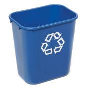 Rubbermaid® Deskside Paper Recycling Container, 28-1/8 Qt, Blue