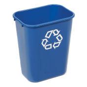 Rubbermaid® Deskside Paper Recycling Container, 41-1/4 Qt, Blue