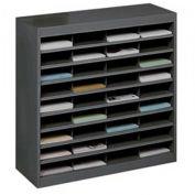 """SAFCO E-Z Stor All-Steel Organizer - 37-1/2x12-3/4x36-1/2"""" - 36 Compartments - Black"""