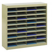 "SAFCO E-Z Stor All-Steel Organizer - 37-1/2x12-3/4x36-1/2"" - 36 Compartments - Putty"
