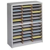 """SAFCO Value Sorter Organizer - 32-1/4x13-1/2x38"""" - 36 Compartments - Gray"""