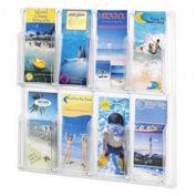 "SAFCO Reveal Literature Rack - 20-5/8x2x20-1/2"" - 8 Pockets"