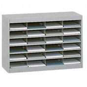 """SAFCO E-Z Stor All-Steel Organizer - 37-1/2x12-3/4x25-3/4"""" - 24 Compartments - Gray"""