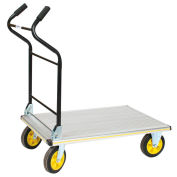 Ergo Handle Folding Alum. Platform Truck, 35-1/2 x 24, 660 Lb. Capacity