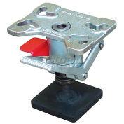 "Vestil FL-ADJ-46 Adjustable Height Steel Floor Lock for 4, 5 & 6"" Casters"