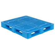 48x40 Rackable FDA and USDA Plastic Pallet, Blue, 4000 Lbs Fork Capacity