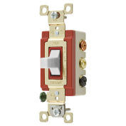 Bryant 4925W Toggle Switch, 20A, 120/277V AC, Double Pole, Double Throw, White
