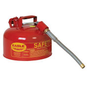"Eagle U2-26-S Type II Safety Can with 7/8"" Spout, 2 Gallons, Red"