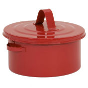 Eagle B-602 Bench Can, Metal, Red, 2 qt.