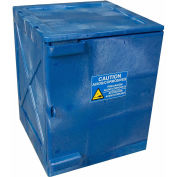 "EAGLE Polyethylene Acids/Corrosives Safety Cabinet - 18x18x22"" - 4-Gallon Capacity - Blue"