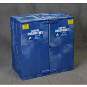 "EAGLE Polyethylene Acids/Corrosives Safety Cabinet - 35x22x36"" - 22-Gallon Capacity - Blue"