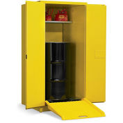 """EAGLE Vertical Drum Cabinet For Flammable Drums - 31x31x65"""" - 1 Drum - Manual-Close Doors"""