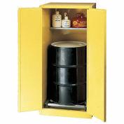 "EAGLE Vertical Drum Cabinet For Flammable Hazardous Waste - 31x31x65"" - 1 Drum - Self-Close Doors"