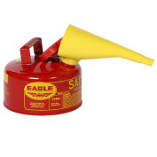 Eagle UI-10-FS Type I Safety Can, 1 Gallon with Funnel, Red