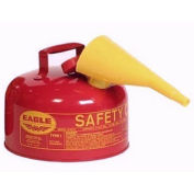 Eagle UI-20-FS Type I Safety Can, 2 Gallon with Funnel, Red