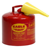 Eagle UI-50-FS Type I Safety Can, 5 Gallon with Funnel, Red