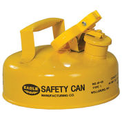 Eagle UI-4-SY Type I Safety Can, 2 Quarts, Yellow