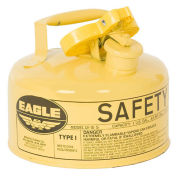 Eagle UI-10-SY Type I Safety Can, 1 Gallon, Yellow