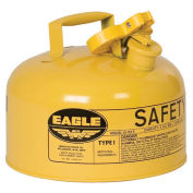 Eagle UI-20-SY Type I Safety Can, 2 Gallons, Yellow