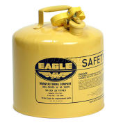 Eagle Type I Safety Can, 5 Gallons, Yellow