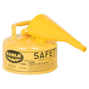 Eagle UI-10-FSY Type I Safety Can, 1 Gallon with Funnel, Yellow