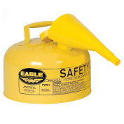 Eagle UI-20-FSY Type I Safety Can, 2 Gallon with Funnel, Yellow