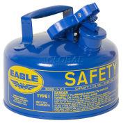 Eagle UI-10-SB Type I Safety Can, 1 Gallon, Blue