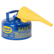 Eagle UI-10-FSB Type I Safety Can, 1 Gallon with Funnel, Blue