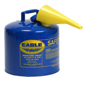 Eagle UI-50-FSB Type I Safety Can, 5 Gallon with Funnel, Blue