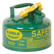 Eagle UI-10-SG Type I Safety Can, 1 Gallon, Green