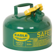 Eagle UI-20-SG Type I Safety Can, 2 Gallons, Green