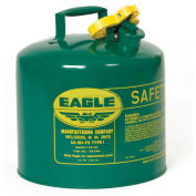 Eagle UI-50-SG Type I Safety Can, 5 Gallons, Green