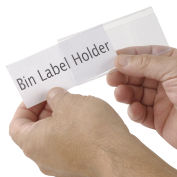 "Tri-Dex Label Holder 1-3/4"" x 4"" for Stacking Bin, 25/Pk"