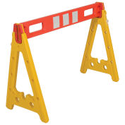 "Vestil AFB-44 Portable Plastic A-Frame Style Barricade 44-1/2"" With 1 Rail"