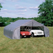 Peak Style Shelter, 30x28x20, Grey