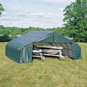 Peak Style Shelter, 30x28x20, Green