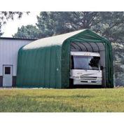 Peak Style Shelter, 14x44x16, Green