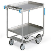 "LAKESIDE Heavy-Duty Stainless Steel Carts - 33""Wx21""D Shelf - 2 Shelves"