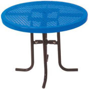 "Food Court Round Table, 30"" High x 36""Diameter - Blue"