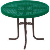 "Food Court Round Table, 30"" High x 36""Diameter - Green"