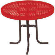 "Food Court Round Table, 30"" High x 36""Diameter - Red"