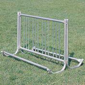 5'L Portable Modern Bike Rack, 10-Bike Capacity, Double Sided
