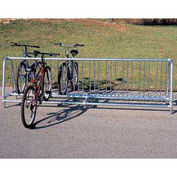 10'L Portable Traditional Bike Rack, 20-Bike Capacity, Double Sided